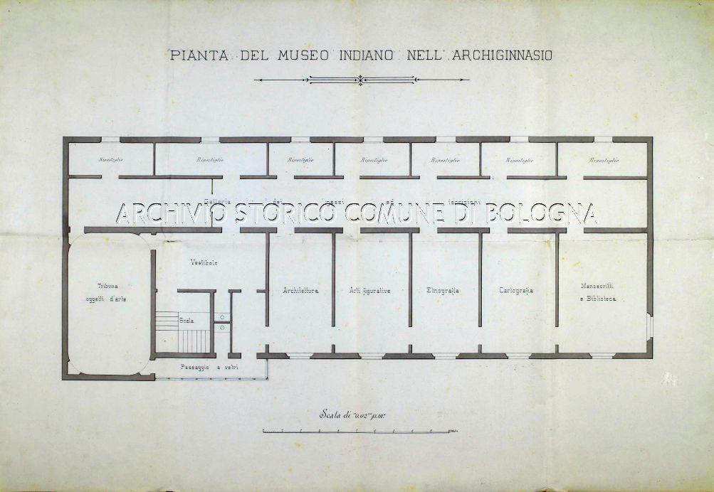 Pianta del Museo Indiano di Bologna nel 1907