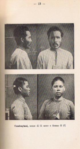 Da Il Congresso di Hanoi: Cambogiani (f. Istituto di Antropometria, Saigon, 1902 c.)